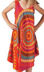 Robe pour fille de Plage et Colorée Penny Orange à Mandalas 280201