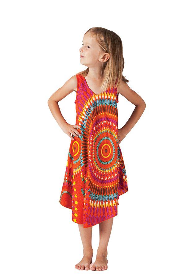 Robe pour fille de Plage et Colorée Penny Orange à Mandalas 280202