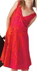 Robe pour Fille Ethnique et coupe Patineuse Scudy Rouge 280588