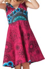 Robe pour Fille Fuchsia Ethnique et coupe Patineuse Scudy 280592
