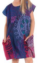 Robe pour Fille Originale et Pas chère Larry Indigo 280132