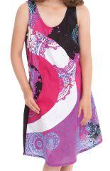 Robe pour Fille Rose sans manches Imprimée et Colorée Pongo 280536