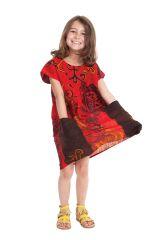 Robe pour Fille Rouge Originale et Pas chère Larry 280135