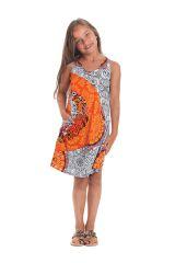 Robe pour Fille sans manches Imprimée et Colorée Pongo Blanche 280531