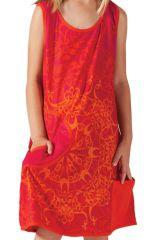 Robe pour Fille sans manches Originale et Colorée Scamp Rouge 280211