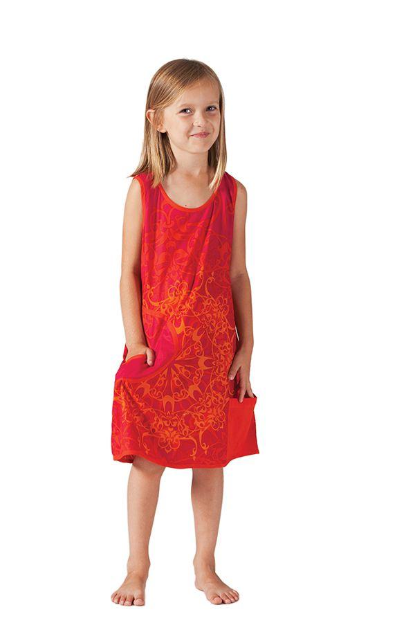 Robe pour Fille sans manches Originale et Colorée Scamp Rouge 280212