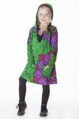 Robe pour fille style ethnique avec capuche Muguette 286533