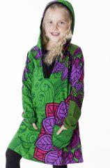 Robe pour fille style ethnique avec capuche Muguette 286949