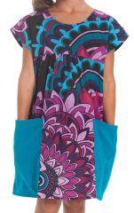 Robe pour Fille Turquoise Originale et Pas chère Larry 280130