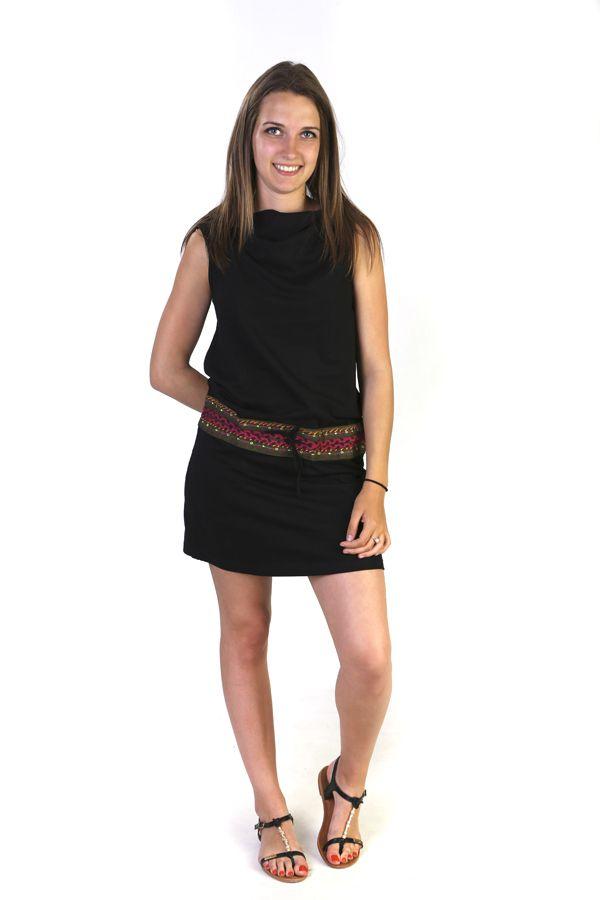 robe printani re capuche sans manches originale noire k lim. Black Bedroom Furniture Sets. Home Design Ideas
