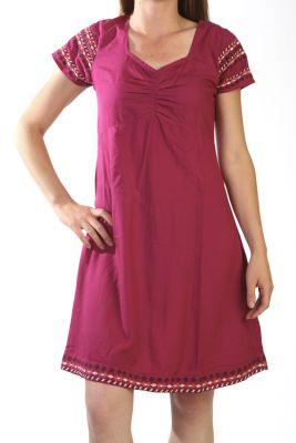 Robe D Ete Coloree Originale Et Ethnique Couleur Framboise Samara
