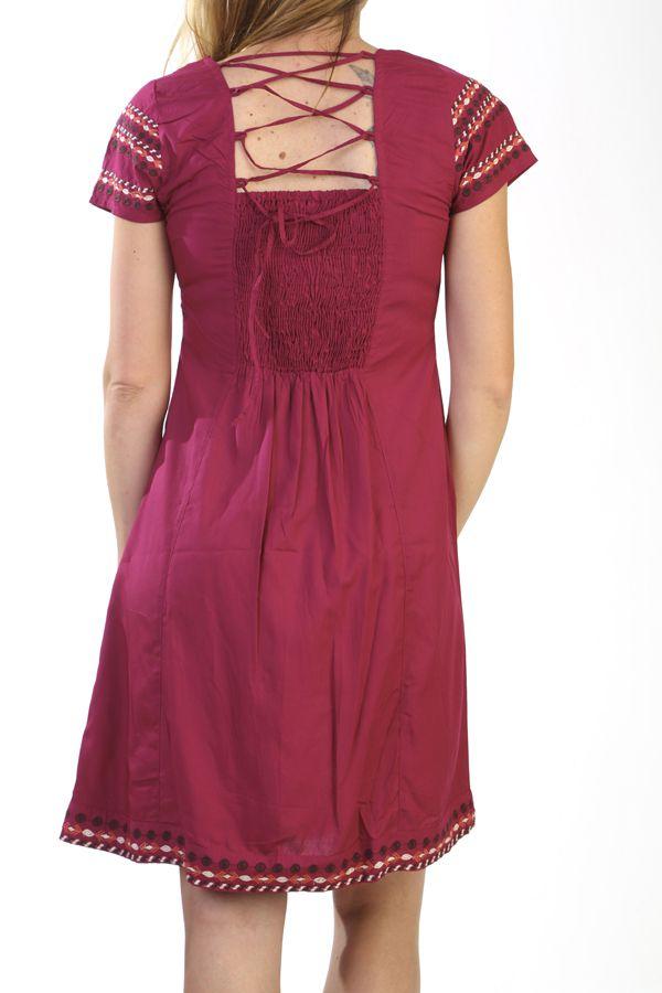 robe d 39 t color e originale et ethnique couleur framboise samara. Black Bedroom Furniture Sets. Home Design Ideas