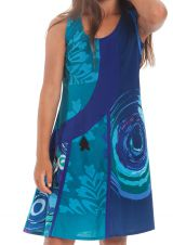Robe Rafiki Bleu foncé pour Fille Ethnique et Originale 280543