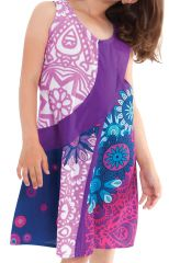 Robe Rafiki pour Fille Ethnique et Originale Rose et Violette 280552