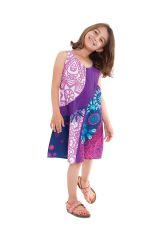 Robe Rafiki pour Fille Ethnique et Originale Rose et Violette 280557