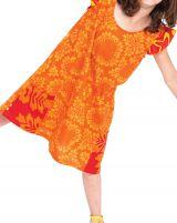 Robe Rajah pour Enfant Jaune et Orange Originale et Pas Chère 280570