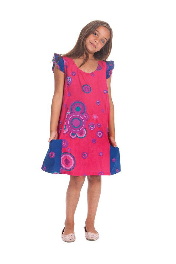 Robe Rajah pour Enfant Originale et Pas Chère Indigo et Rose 280573