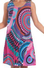 Robe Rose pour Enfant à larges bretelles très Colorée Roxy 280181