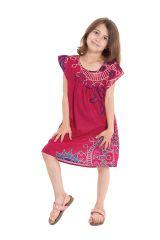 Robe Rose pour Enfant à manches courtes Ethnique et Originale Libby 279842