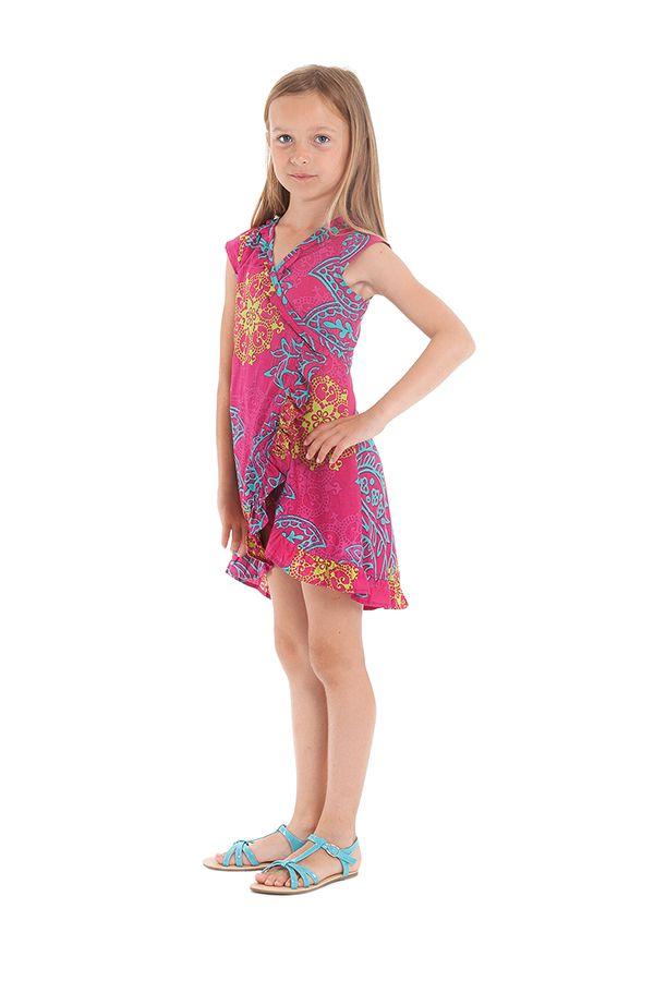 Robe Rose pour Enfant Sarabi Colorée et Portefeuille 280190