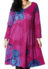 Robe Rose pour femme pulpeuse Ethnique et Colorée Ambraza 286769