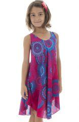 Robe rose pour fillette à mandalas Enthnique et Vive Marie-Jo 295787