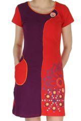 Robe Rouge courte d'été Originale et Colorée Simply 283120