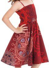 Robe Rouge d'été Narcisse 2en1 transformable en Jupe 280223