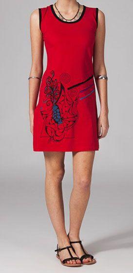 Robe rouge ethnique Safia 269229