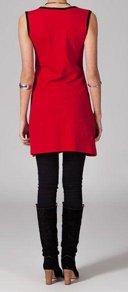 Robe rouge ethnique Safia 269231