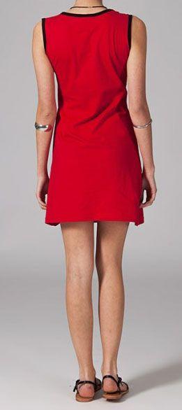 Robe rouge ethnique Safia