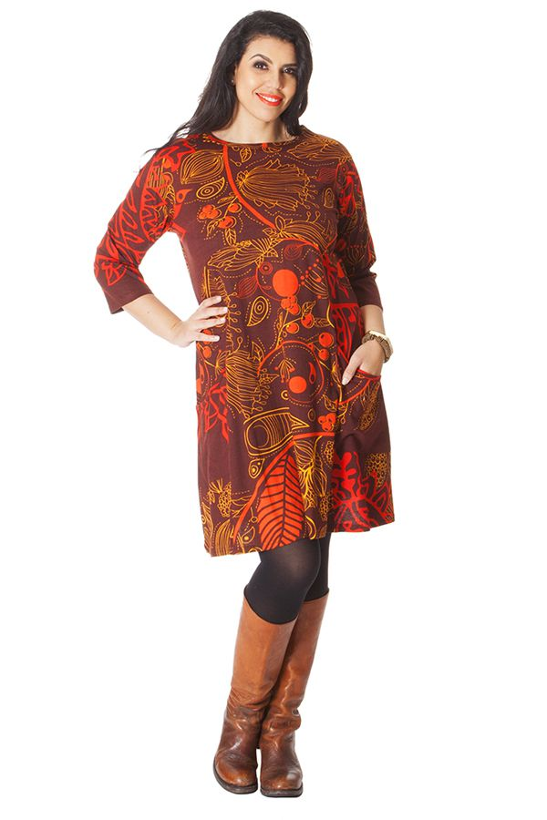 Robe Rouille Originale et Ethnique en Grande Taille Artik 286235
