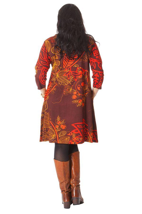 Robe Rouille Originale et Ethnique en Grande Taille Artik 286236