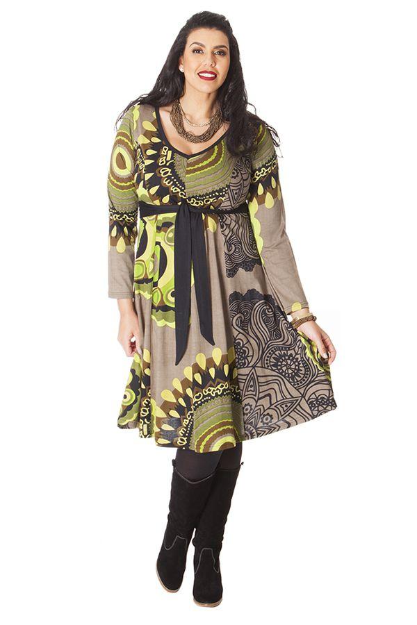 Robe Sable à ceinture amovible Ethnique et Imprimée Kimmy 286271