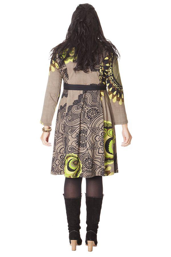 Robe Sable à ceinture amovible Ethnique et Imprimée Kimmy 286272