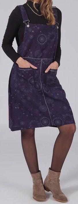 Robe salopette bleue pour l\'hiver pas chère et orginale Mathilde