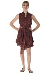 robe sans manche bordeaux ethnique style indien Ivy 288212