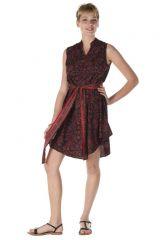 robe sans manche bordeaux ethnique style indien Ivy 288218