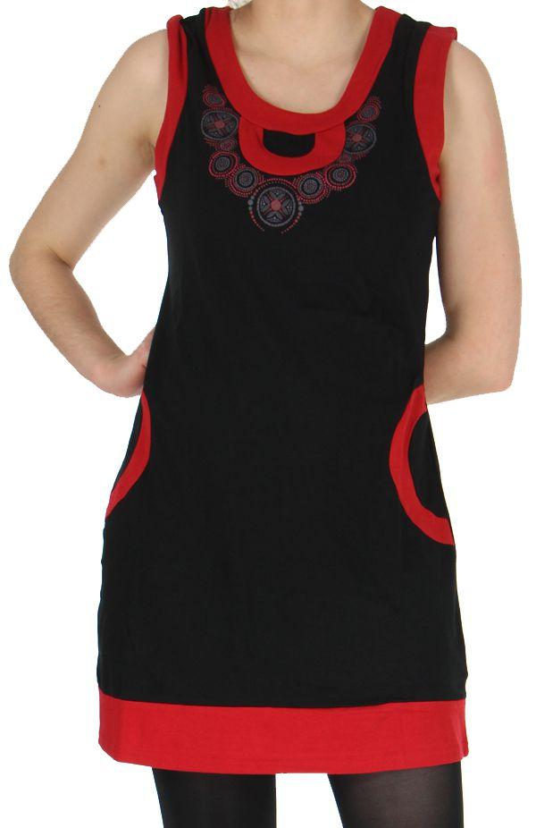 Robe sans manches Ethnique et Originale Angélina Rouge 279002