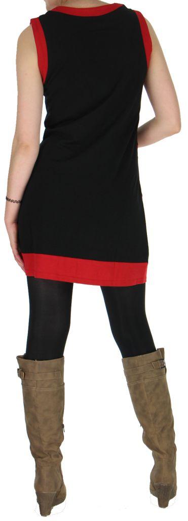 Robe sans manches Ethnique et Originale Angélina Rouge 279004