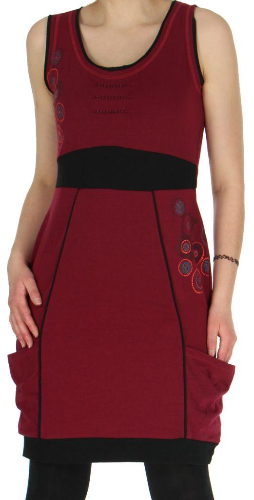 Robe sans manches Originale et Ethnique forme boule Bolza Framboise 279057