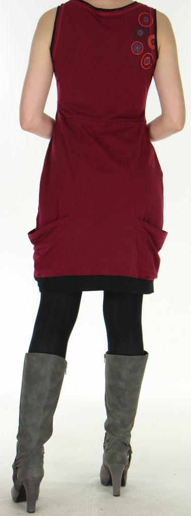 Robe sans manches Originale et Ethnique forme boule Bolza Framboise 279059