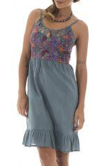 Robe sans manches pour femme Originale et Glamour Coraline Grise 295232