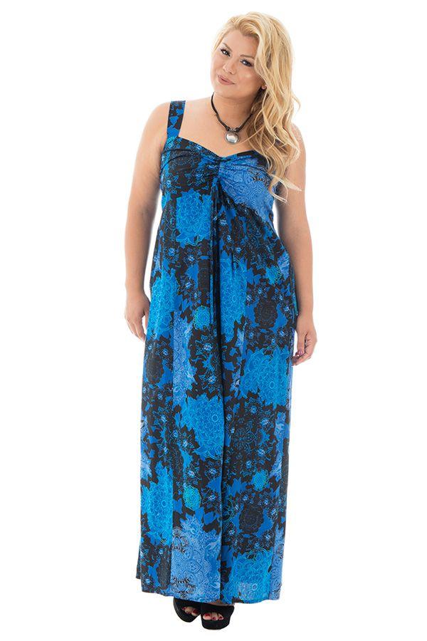 robe sensuelle longue grande taille avec imprimés fantaisies Samuelle 290193