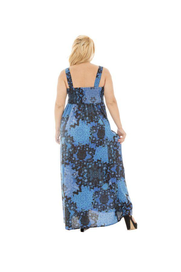 robe sensuelle longue grande taille avec imprimés fantaisies Samuelle 290194