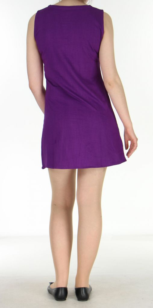 Robe spirale violette et bleue Romane 270066