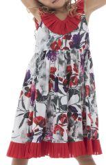 Robe style bohème à bretelles pour enfant avec imprimé  Coralie 294395