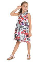 Robe style portefeuille sans manches et imprimé floral Mimi 294456