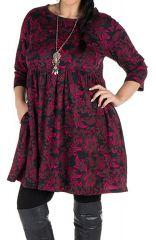 Robe tendance courte imprimée en coton Sajita 301690