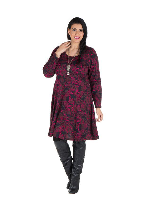Robe tendance courte imprimée en coton Sajita 301691